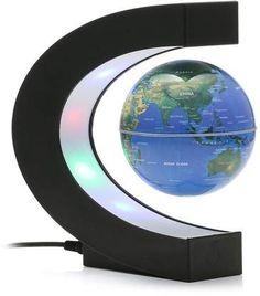 Meco Sizzler MECO 3'' C Shape Anti Gravity Globe Magnetic Levitation Floating Globe Illuminated and Changeable Color Globe World Map with LED Light #globes #worldmap #antigravity #afflnk #funkthishouse