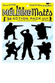 Molding Mates Action Pack Military Karate Ninjas 34 Molding Mates Home Decor Peel and Stick Vinyl Wall Decal Stickers ** Be sure to check out this awesome product. (This is an affiliate link and I receive a commission for the sales)