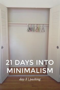 Day 3 of 21 Days Into Minimalism | packing