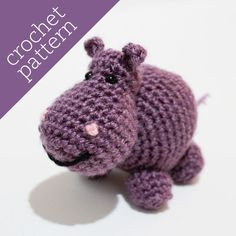 CROCHET PATTERN PDF - Amigurumi - Happy Hippo Pal