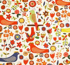 EcoJot Swedish Birds Gift Wrapping Paper