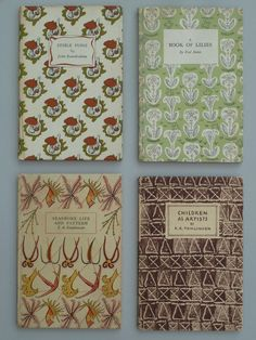 An assortment of King Penguin 1st edition booksEdible Fungi (1943)A Book of Lilies (1943)Seashore Life and Pattern (1943)Children as Artists (1944)