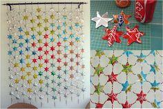 Te compartimos estos originales #proyectos #DIY para hacerte de unas cortinas con material al 100% reciclado. #decora #decoración #recicla #reutiliza #hogar
