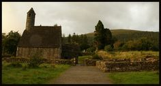 The Monastic City with St Kevin's monastery in Glendalough.