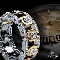 Match your watch with two tone La Paz Ring from #RockfordCollection   SHOP at www.rockfordcollection.com  Worldwide Shipping