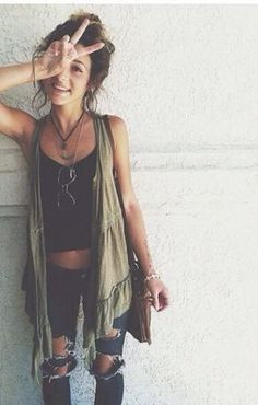 Grunge chic so many cute summer outfits