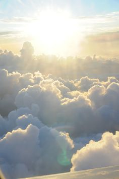 In the clouds #heaven #dreamy #white