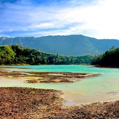 Dieng Plateau in Vietnam, turquoise waters and mountains galore. Photo courtesy of danflyingsolo on Instagram.