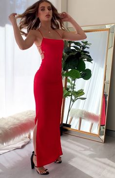 Manhattan Slip Formal Dress Red – Mujer Y Salud Satin Formal Dress, Satin Dresses, Sexy Dresses, Beautiful Dresses, Fashion Dresses, Gowns, Long Ball Dresses, Red Formal Dresses, Gala Dresses