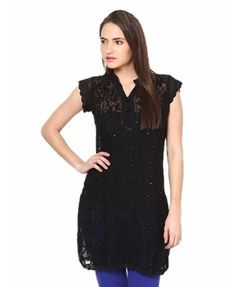 Castle #GeorgetteKurta has been adorned with floral and Heavy #Chickenembroidery on front and Back. Visit here for product: http://buydebest.com/ETHNIC_WEAR/Castle_Chicken_Embroidery_Georgette_Kurta1