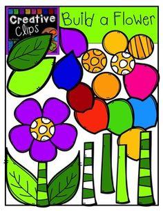 Read More About Freebie! Build a Flower Pieces Creative Clips Digital Clipart 2 Clipart, Flower Clipart, Clipart Images, Free Clipart For Teachers, Free Teaching Resources, Scrapbooking, Flower Center, Preschool Classroom, Stem Activities
