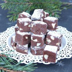 Himmelskt god chokladfudge som fullkomligt smälter i munnen. Innehåller bara tre ingredienser!