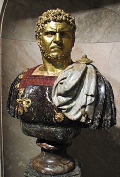 """""""Lucius Septimius Bassianus was an African Roman Emperor who ruled from 211 to Roman Sculpture, Sculpture Art, Roman Hairstyles, Statues, Roman Man, Ancient World History, Rome Antique, Empire Romain, African Royalty"""