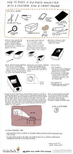 How to Make a DIY Photo Projector with a Shoebox & Smartphone « The Secret…