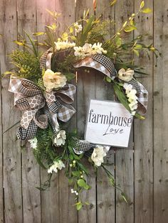 Spring wreaths for front door, Spring magnolia wreath, Farmhouse wreath, Double door wreath by DecoWreathBoutique on Etsy Double Door Wreaths, Summer Door Wreaths, Fall Wreaths, Christmas Wreaths, Floral Wreaths, Easter Wreaths, Picture Wreath, Mothers Day Wreath, Country Wreaths