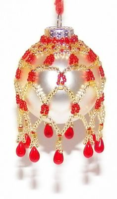 Picot Netted Ornament Cover - Beadwork
