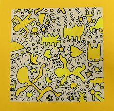 keith haring style art projects - focus on contour and movement Artists For Kids, Art For Kids, Jm Basquiat, Square 1 Art, Keith Haring Art, 5th Grade Art, Third Grade, Positive Art, Ecole Art