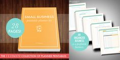 Printable Small Business Planner: An organized business is a profitable business