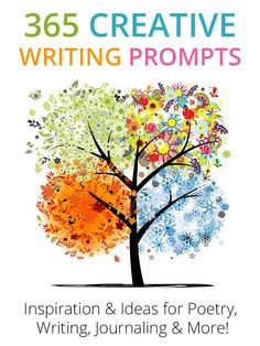Here are 365 Creative Writing Prompts to help inspire you to write every single day! Use them for journaling, story starters, poetry, and more!
