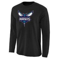 Men's Charlotte Hornets Teal Primary Logo Long Sleeve T-Shirt