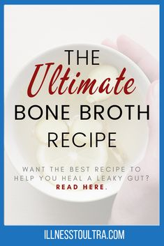 Did you know bone broth is one of the best ways to improve your gut health? Bone broth during a fast is one of the best ways to boost your health and heal your gut. You might not even know your gut is unhealthy! Read about how you can impro Whole Food Diet, Whole Food Recipes, Nutrition Plans, Health And Nutrition, Leaky Gut Diet, Autoimmune Diet, Food Intolerance, Cancer Cure, Nutritious Meals