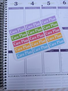 CARE PLAN Stickers for your Erin Condren Life by HayloPlanning