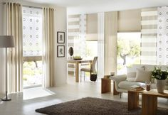 Curtains, sun protection, pleated blinds – livingreet: modern from unland international gmbh, modern Drapes And Blinds, Shades Blinds, Diy Curtains, Panel Curtains, Design Your Dream House, House Design, Window Design, Window Coverings, Home And Living