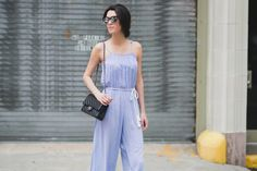 Stripe jumpsuit | Obsessions Now Blog