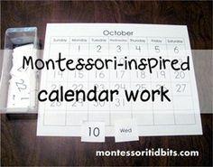 Montessori-inspired calendar work {and a printable}