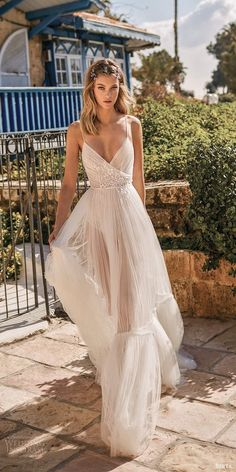 berta wedding dress featuring - berta 2020 muse bridal sleeveless thin straps v neckline ruched bodice a line ball gown wedding dress mv -- Muse by Berta 2020 Wedding Dresses