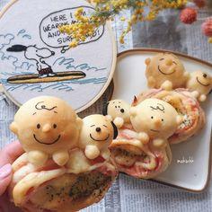 スヌーピーパン♡ Snoopy and Charlie Brown Japanese Bread, Japanese Sweets, Snoopy Party, Making Homemade Ice Cream, Bread Shaping, Bento Recipes, Bread Bun, Cute Desserts, Happy Foods