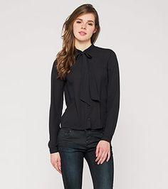 Damen Chiffon-Bluse in schwarz - Mode günstig online kaufen - C&A / 19,00