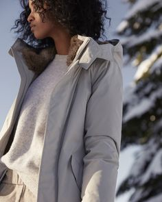 Cold air, don't care. The Oskar Parka from Babaton is sleek, streamlined and built to take on the elements.