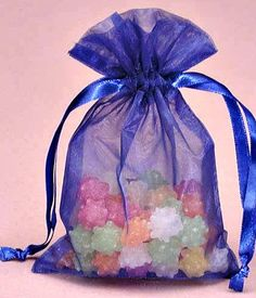 25 Organza bags in blue wedding favor bags candy by PartySurprise
