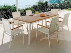 The Charm Of Teak Combined With The Functionality And Minimalism Of Aluminum...  Is
