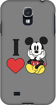 I heart love Mickey Mouse Samsung Galaxy S4/S3 Case by sweetsisters