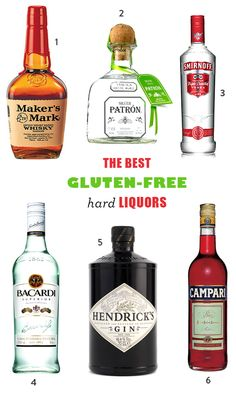 The Best Gluten-Free Hard Liquors and Alcohols - great for cooking with or making homemade vanilla extract
