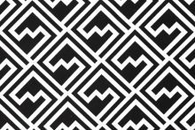 Black and White 'Shakes' print from Love Fabric
