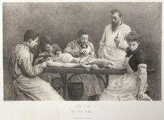 """""""Une Fin"""" Dissection Lithograph"""