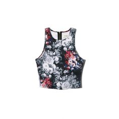 Abercrombie & Fitch Rebecca Neoprene Crop Top ($9.99) ❤ liked on Polyvore featuring tops, crop tops, shirts, multi color floral, zip crop top, crop shirts, slim fit white shirt, white shirt and colorful crop tops