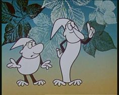 Old czech cartoon with two dwarfs (Jak Kř™emílek a Vochomůrka)