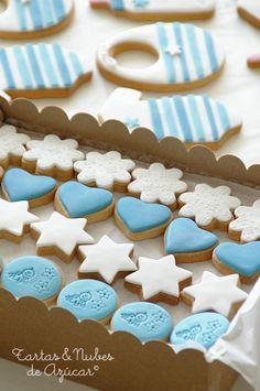 tartas y nubes de azúcar