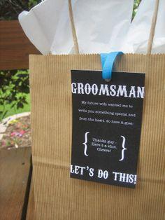 Groomsmen Thank You Gift Card - Wedding. $4.00, via Etsy.  A cute way to say thank you to your groomsmen!