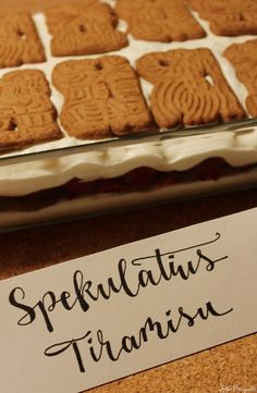 Speculoos Tiramisu - Famous Last Words Buffet Dessert, Dessert For Two, Tiramisu Dessert, Easy Cupcake Recipes, Easy Smoothie Recipes, Fall Desserts, Christmas Desserts, Ice Cream Recipes, Chocolate Recipes