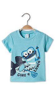 Babyshirt met korte mouwen in lichtblauw