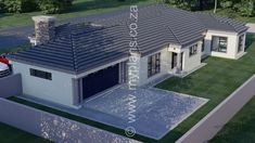 4 Bedroom House Plan - My Building Plans South Africa Tuscan House Plans, Metal House Plans, My House Plans, House Floor Plans, Split Level House Plans, Square House Plans, My Building, Building Plans, 6 Bedroom House Plans