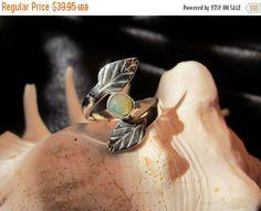 Sterling opal ring Ethiopian Welo opal silver by artsandadornments