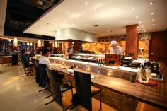 Hosokawa Amsterdam   Teppanyaki – Robata Grill – Sushi Bar Japanese Kitchen, Japanese Food, Restaurant Kitchen, Restaurant Design, Teppanyaki Restaurants, Loft Design, Japanese Street Fashion, Industrial Loft, Dim Sum