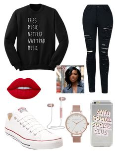 """2017 look"" by blackberry2003 ❤ liked on Polyvore featuring Converse and Topshop"