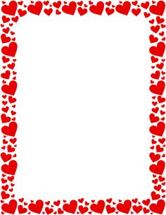 Printable red heart border. Free GIF, JPG, PDF, and PNG downloads at http://pageborders.org/download/red-heart-border/